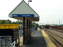 Metra Irving Park UP-NW Station